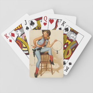 Cowgirl Pin-up Girl Card Deck