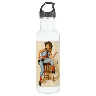 Cowgirl Pin-up Girl 24oz Water Bottle