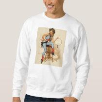 Cowgirl Pin-up Girl Sweatshirt