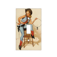 Cowgirl Pin-up Girl Switch Plate Covers