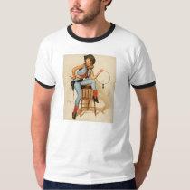 Cowgirl Pin-up Girl T-Shirt