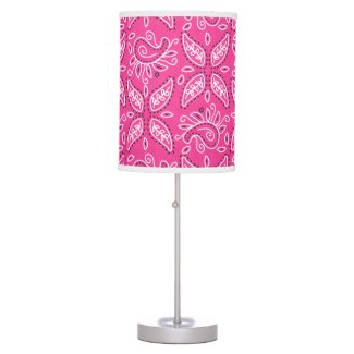 Cowgirl Pink Paisley table lamp