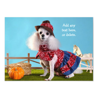 Cowgirl Poodle Card