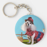 Cowgirl Poodle Key Chains