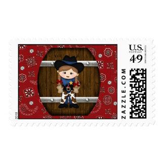 Cowgirl Postage Stamp