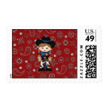 Cowgirl Postage Stamps