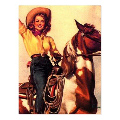 Cowgirl Postcard