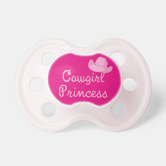 Cowgirl Princes With Pink Hat Baby Pacifier