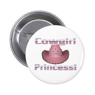 Cowgirl princess button