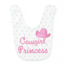 Cowgirl Princess Text With Hat Bib