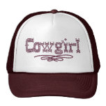 Cowgirl Print Truckers Cap Trucker Hats