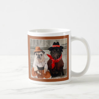 Cowgirl Pug and Cowboy Pug Mug by Pugs and Kisses