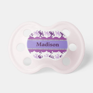Cowgirl purple print pacifier