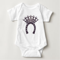 cowgirl redneck horseshoe crown horse baby bodysuit