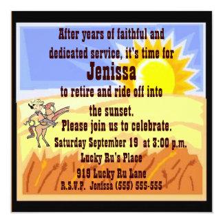 Cowgirl Retirement Party Invitation