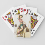 "Cowgirl Retro Pinup Playing Cards<br><div class=""desc"">Vintage pin up.</div>"