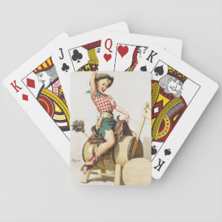 Cowgirl Retro Pinup Playing Cards
