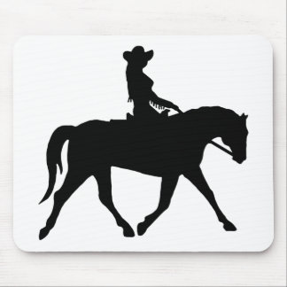 Cowgirl Riding Her Horse Mouse Pad