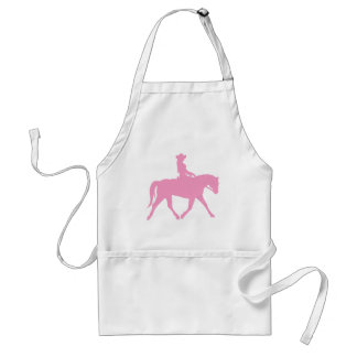 Cowgirl Riding Her Horse (pink) Adult Apron
