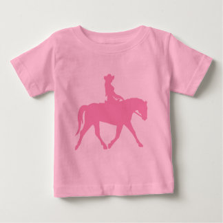 Cowgirl Riding Her Horse (pink) Baby T-Shirt