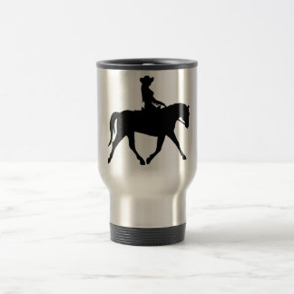 Cowgirl Riding Her Horse Travel Mug