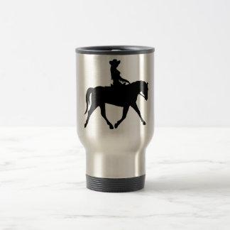 Cowgirl Riding Her Horse Travel Mug