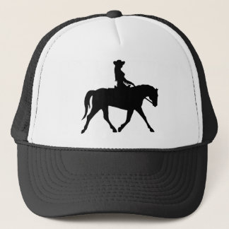 Cowgirl Riding Her Horse Trucker Hat