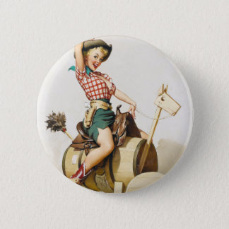 Cowgirl Riding Pin Up