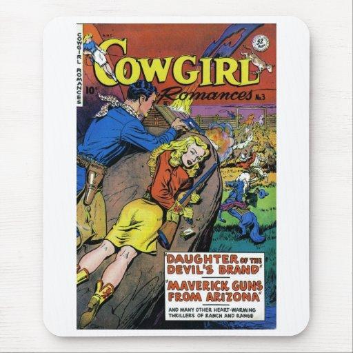 """Cowgirl Romances #3"" Mousepad"