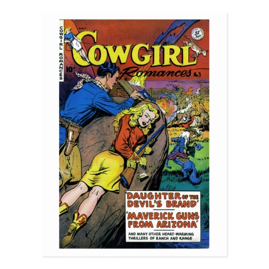 """Cowgirl Romances #3"" Postcard"