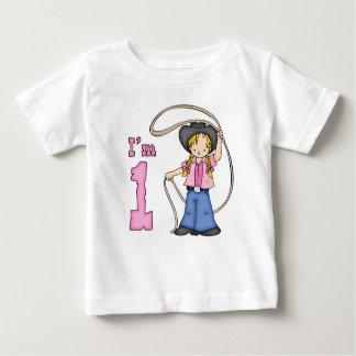 Cowgirl Roper 1st Birthday Baby T-Shirt