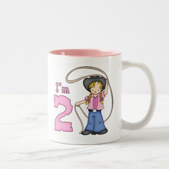 Cowgirl Roper 2nd Birthday Two-Tone Coffee Mug