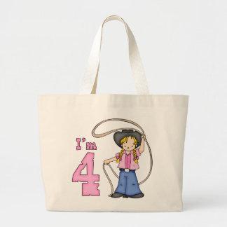 Cowgirl Roper 4th Birthday Tote Bag