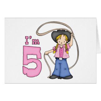 Cowgirl Roper 5th Birthday Invitation