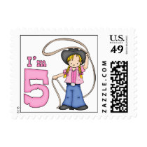 Cowgirl Roper 5th Birthday Postage