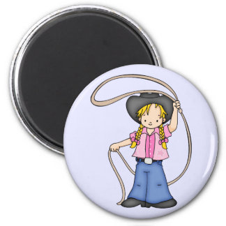 Cowgirl Roper Magnet