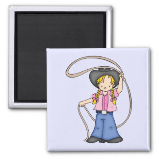 Cowgirl Roper Magnets