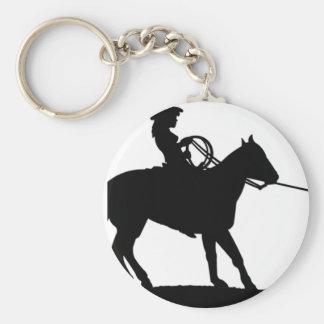 Cowgirl Roping Cowboy Keychain