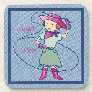 Cowgirl Rose Lasso Rodeo Coaster