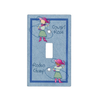 Cowgirl Rose Rodeo Champ Light Switch Cover
