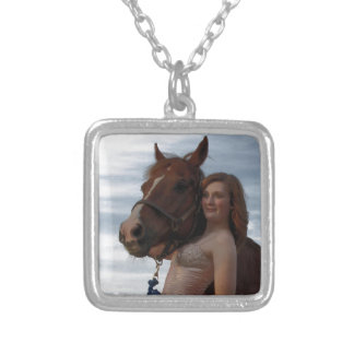 Cowgirl Silver Plated Necklace