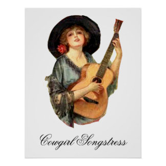 Cowgirl Songstress Poster