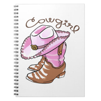Cowgirl Spiral Note Books