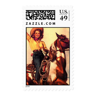 Cowgirl Stamp