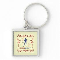 Cowgirl Stamp Keychain