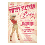 Cowgirl Sweet 16 Party Invitations