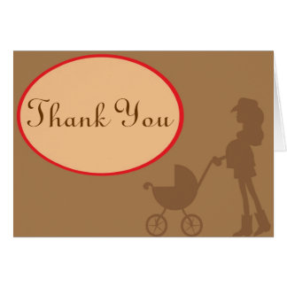 Cowgirl Thank You note Card