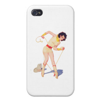 Cowgirl Tie Shoe Cover For iPhone 4