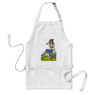 Cowgirl Tipping Her Cowboy Hat Illustration Adult Apron