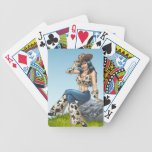 Cowgirl Tipping Her Cowboy Hat Illustration Bicycle Playing Cards